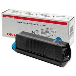 Oki C5300 Laser Toner Cartridge Page Life 5000pp Cyan Ref 42127407
