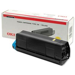 Oki C5300 Laser Toner Cartridge Page Life 5000pp Yellow Ref 42127405
