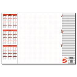 5 Star Office Paper Desk Pad 30 Sheets 590x410mm 80gsm White Printed