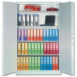 Phoenix Firechief Security Cupboard Fire Resistant 764 Litre Capacity 230kg W1200xD525x1885mm Ref FS1613K