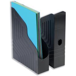 Avery Mainline Magazine Rack File W78xD253xH323mm Black Ref 440SXBLK - Pack 6