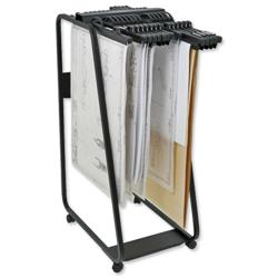 Arnos Hang-A-Plan General Front Load Trolley for Approx.20 Binders A0-A1-A2-B1 W550xD800xH1335mm Ref D060