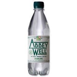 Abbey Well Sparkling Mineral Water Bottle Plastic 500ml Ref 3791- Pack  24