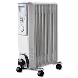 5 Star Facilities Heater Oil Filled for 20m.sq 230V/50Hz 3 Settings