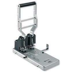 Rexel HD2150 Heavy Duty 2-Hole Punch/Perforator Silver-Black Ref 2101234