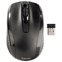Hama AM-7300 Mouse Three-Button Scrolling Wireless 2.4GHz Optical 1000dpi Range 8m Ref 86537