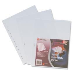 Rexel Nyrex Pocket Heavy-duty Side-opening A4 Clear Ref 11011 - Pack 25
