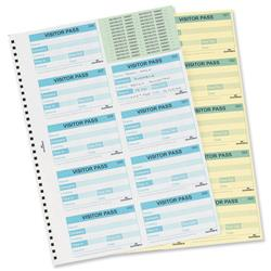 Durable Visitors Book Refill of 100 60x90mm Badge Inserts Ref 1464-00