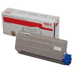 OKI Laser Toner Cartridge Page Life 11000pp Yellow Ref 44318605