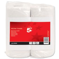 5 Star Facilities Kitchen Tissue 229x247mm Sheets 60 per Roll (Pack 2)