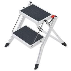 5 Star Facilities Mini Stool Two Step Steel Folding Single Sided Load Capacity 150kg