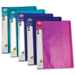 Concord Display Book Flexible Polypropylene 10 Pockets A4 Assorted Ref 7140-PFL [Pack 10]