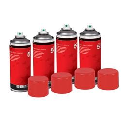 5 Star Office Anti-Static Foam Cleaner [Pack 4]