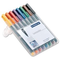 Staedtler 316 Lumocolour Assorted Colour Fine Non-permanent Pens Ref 316 WP8 - Pack 8