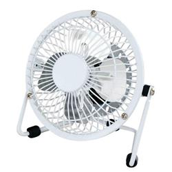 5 Star Facilities Desk Fan 4 Inch With Tilt USB 2.0 Interface H145mm White