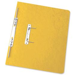 Elba Boston Spiral Transfer Spring File 320gsm Foolscap Yellow Ref 100090037 [Pack 25] - Free Coffee Voucher