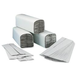5 Star Facilities Hand Towel C-Fold One-ply Recycled 220x305mm 192 Towels Per Sleeve Natural Pack 15
