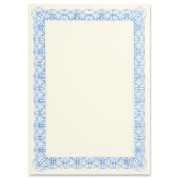 Certificate Papers with Foil Seals 90gsm A4 Blue [Pack 30]