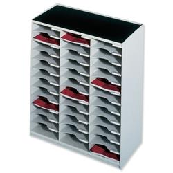 Paperflow Modulodoc Mailsorter Stackable 36x A4 Compartments W674xD308xH791mm Grey Ref 80302