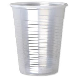 Plastic Cups for Cold Drinks Non Vending Machine 7oz 207ml Clear - Pack 100