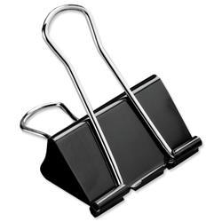 5 Star Office Foldback Clips 41mm Black [Pack 12]