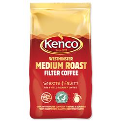 Kenco Westminster Medium Roast Ground Coffee for Filter 1Kg Ref A03061
