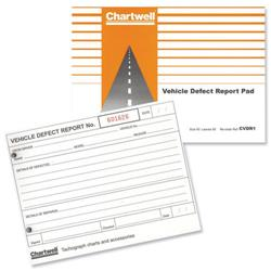 Chartwell Tachograph Vehicle Defect Report Pad Ref CVDR1