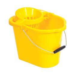 Oval Mop Bucket 12 Litre Yellow