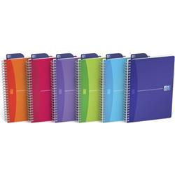 Oxford Office Notebook Twin Wirebound 180pp A5 Random Bright Colour Ref 100104780 [Pack 5]