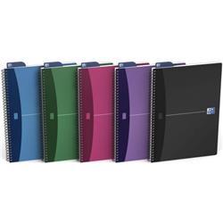 Oxford Office Notebook Wirebound Polypropylene A4 Random Colour Ref 100101918 [Pack 5]