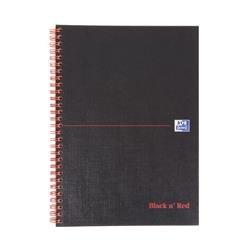 Black n Red Notebook Ruled Margin Perforated Wirebound Hardback B5 Ref 400099450