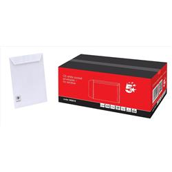 5 Star Office Envelopes C5 Pocket Peel and Seal 100gsm White [Pack 500]