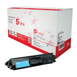 5 Star Office Remanufactured Laser Toner Cartridge Page Life 3500pp Cyan [Brother TN326C Alternative]