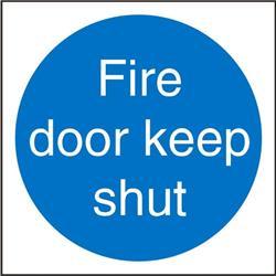Stewart Superior M014SAV Self Adhesive Vinyl Sign (100x100) - Fire Door Keep Shut Ref M014SAV-100X100