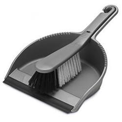 Addis Stiff Dustpan and Brush Set (Metallic Silver) Ref 510405