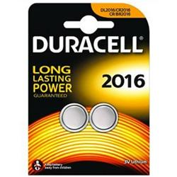 Duracell Lithium Battery Pack of 2 Ref DL2016B2