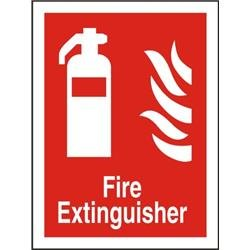 Stewart Superior FF071SAV Self Adhesive Vinyl Sign (150x200) - Fire Extinguisher Ref FF071SAV-150X200