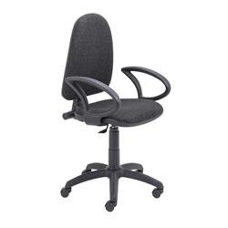 Zoom High Back Operator Chair with Fixed Arms Charcoal Ref CH0707CH+AC1041