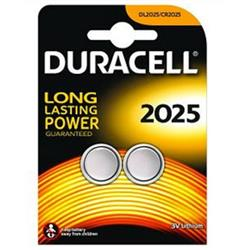 Duracell DL2025 (3V) Lithium Button Battery (Pack of 2) - DL2025B2