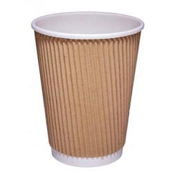 CPD (12oz) Kraft Ripple Hot Cup (Pack of 25) Ref 511053