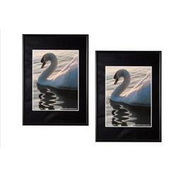 The Photo Album Company Certificate Frame A4 Back Loader Black A4MARBLK-NG Ref A4MARBLK-NG
