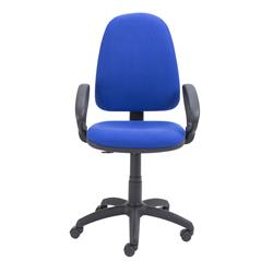 Zoom High Back Operator Chair with Fixed Arms Royal Blue Ref CH0707RB+AC1041