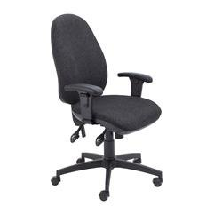 Concept Maxi Chair with Adjustable Arms Charcoal Ref CH0805CH+AC1040