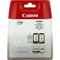 Originale Multipack Canon PG-545 / CL-546 FINE nero + colore - 8287B006 - conf. 2