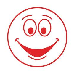 Colop (22 x 22mm) Motivational Stamp Happy Face Red (Single) Ref 147165
