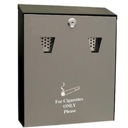 Cathedral (3.1 litre) Lockable Steel Ash Bin (Black) Ref ASHS
