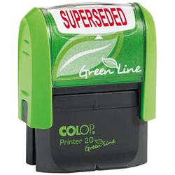 Colop Green Line (38mm x 14mm) Word Stamp SUPERSEDED Red Ink (Single) Ref C144837SUP