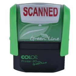 Colop Green Line (38mm x 14mm) Word Stamp SCANNED Red Ink (Single) Ref C144837SCA