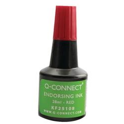 Q-Connect Endorsing Ink 28ml Red (Pack of 10) Ref KF25108Q