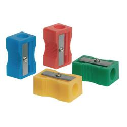 Q-Connect Plastic Pencil Sharpener Single Hole Assorted (Pack of 10) Ref KF76992